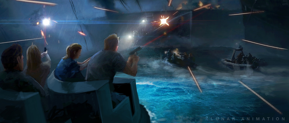 Interactive Ride Concept Art - Battleground