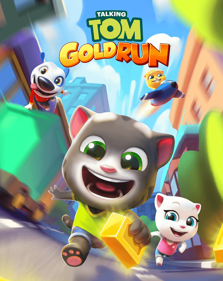 Talking Tom - Gold Run Poster
