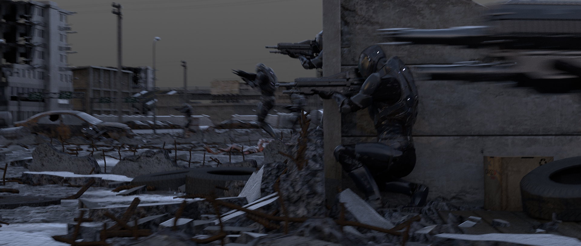 Lunar Animation's WAR. Final image comped in Nuke - After