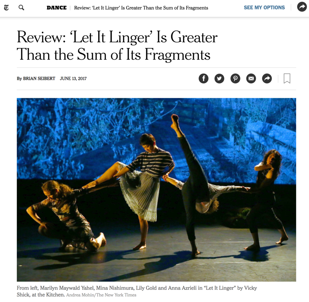 New York Times, Vicky Shick, Seline Baumgartner