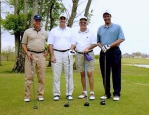 L to R: Bruce Dyson, Sparky Hoffman, Carl Robicheaux, Rhaoul Guillaume, Sr.