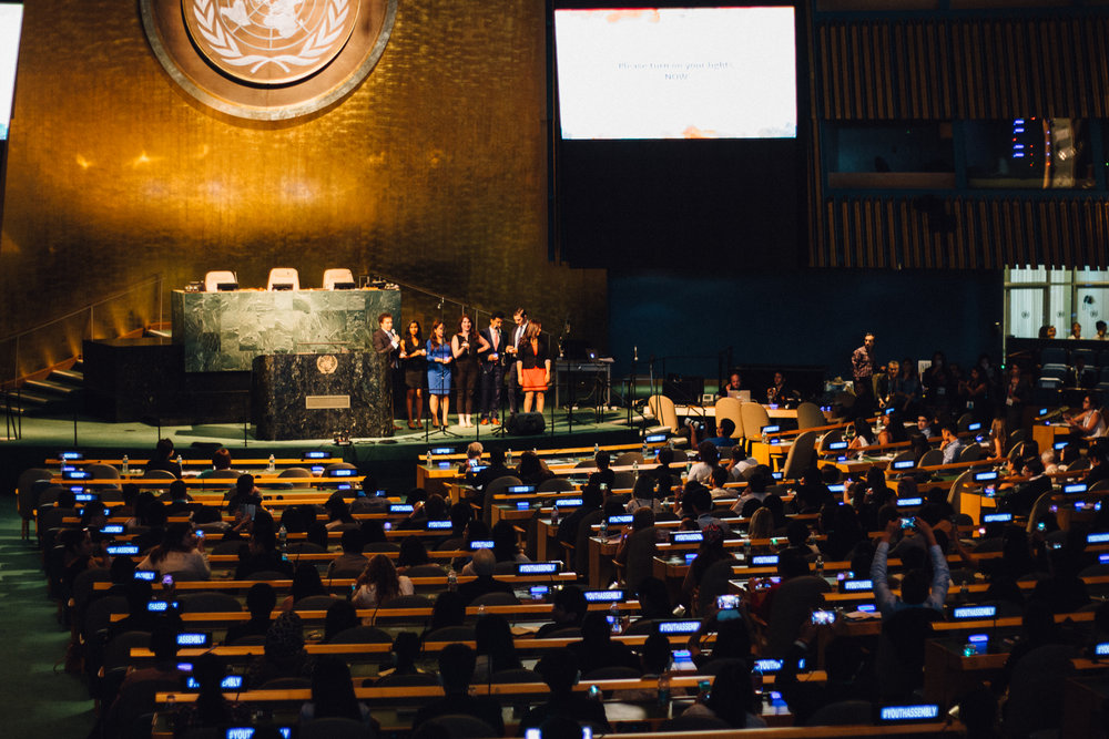 In the UN General Assembly. It was an exhilarating experience to have presented what we do in NYC!