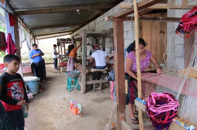 Handmade shawls in Guatemala