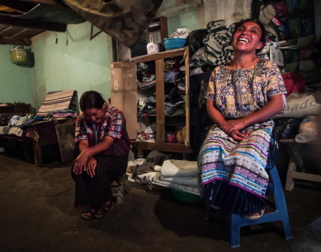 Women weavers' co-operative in Solola, Guatemala