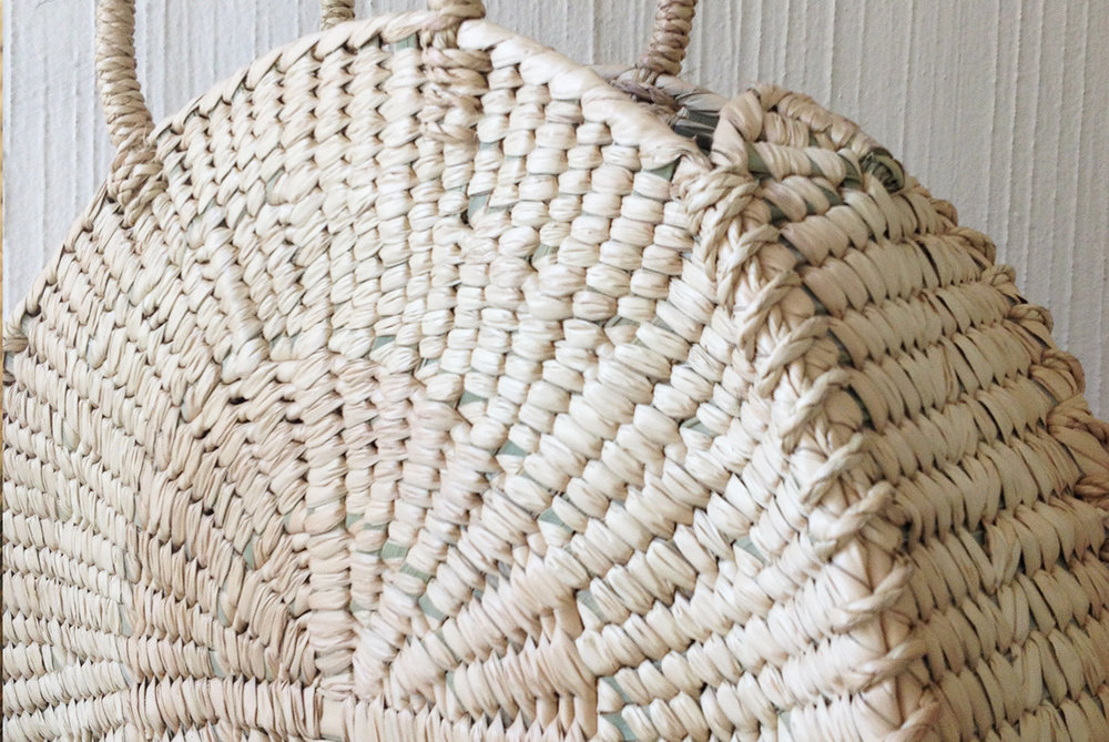 Naturally woven palm bag