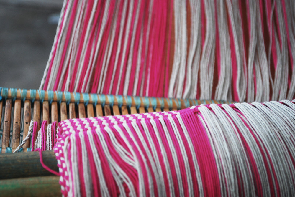 Pink cotton threads for cotton clutch