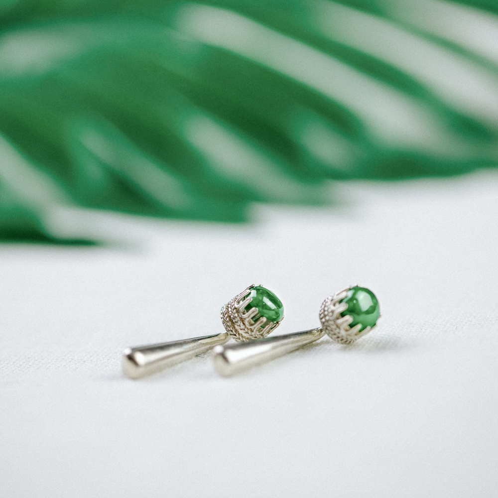 art emerald product green faux shop deco earrings crystal