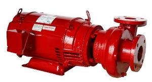 Close coupled base-mounted pump