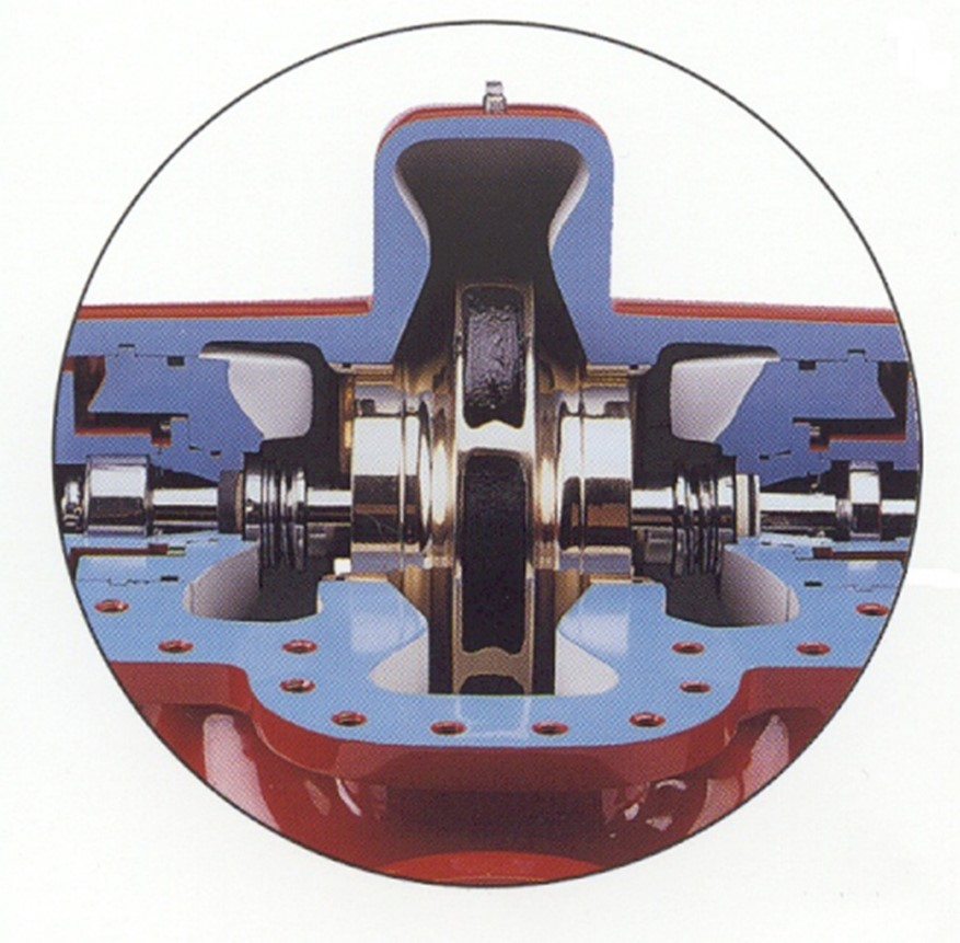 Internally flushed seals on a horizontal split-case pump