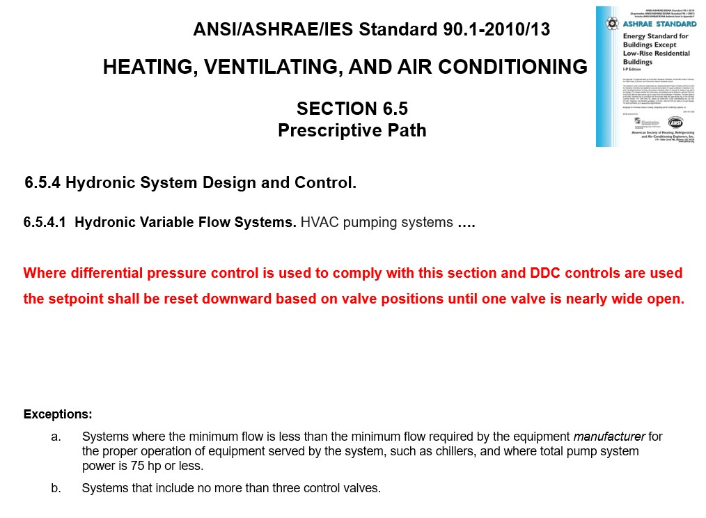 ASHRAE 90 1-2010/2013: Impact on Variable Speed Pump Control