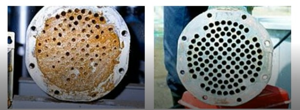 Fouling on cooling tower heat exchanger can significantly impair performance and efficiency.