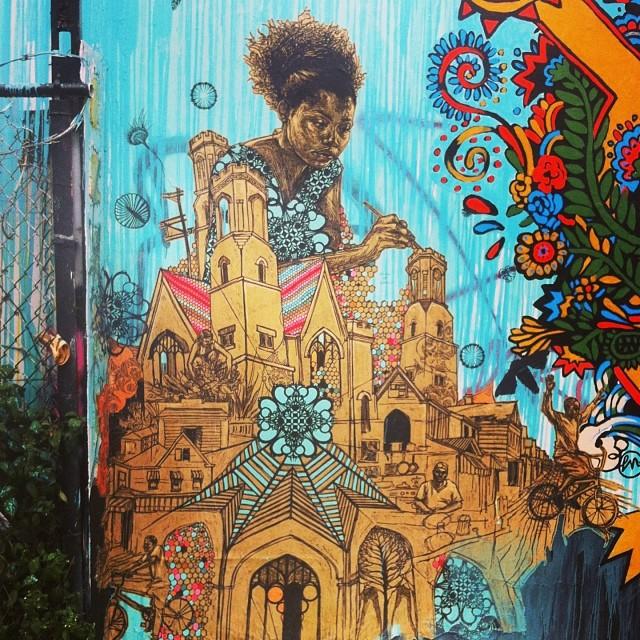 Swoon #streetart #nyc #swoonhq @swoonhq