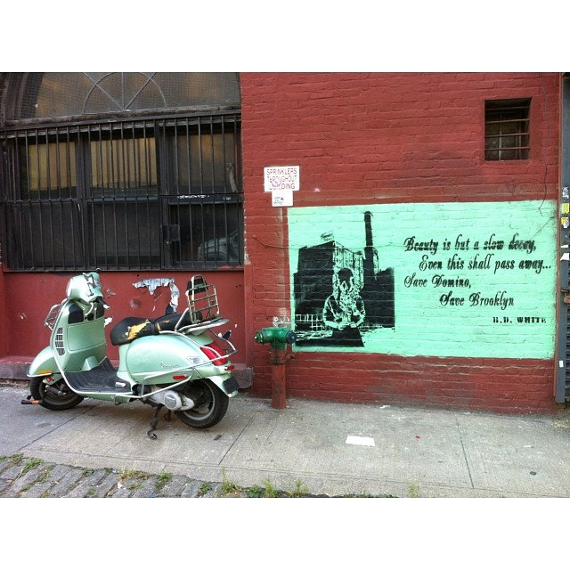 Beauty is but a slow decay BD White #streetart #bdwhite #brooklyn #savedomino