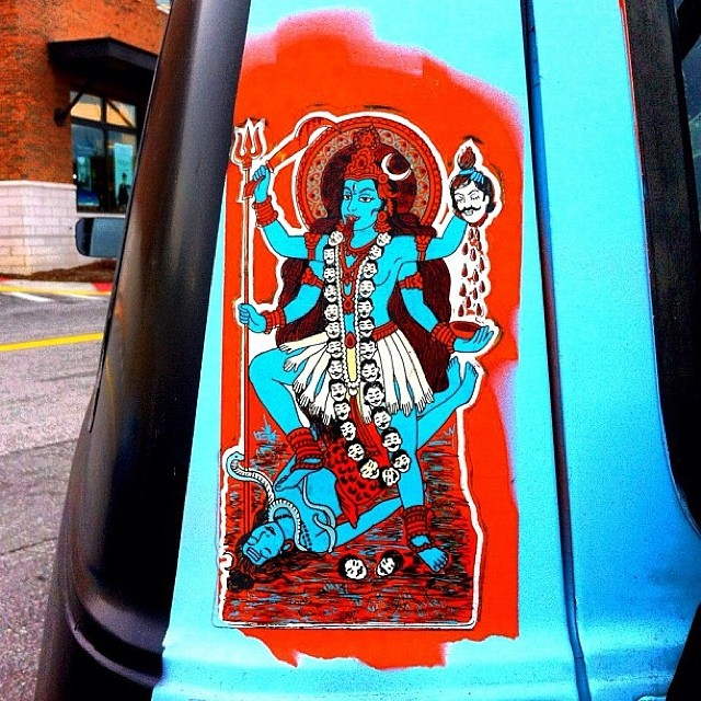 Wrathful #asheville #latergram #repost #streetart #wrathful