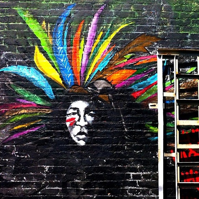 Feather Headdress #streetart
