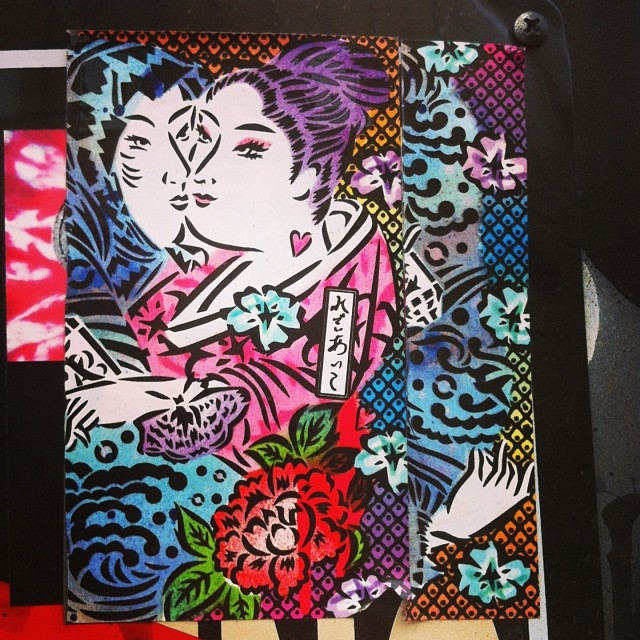 Lady Aiko #streetart #stickerart #ladyaiko #brooklyn #nyc