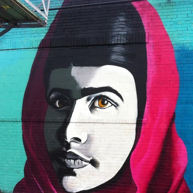 Malala by Danielle Mastrion #streetart #brooklyn #bushwickcollective #daniellemastrion #malala