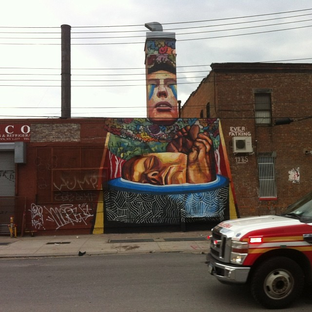 Automobile Photo Crashing #streetart #brooklyn