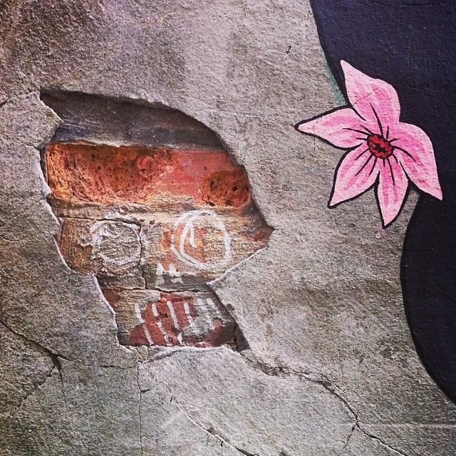 The skull & flower @ Brooklyn Fire Proof #streetart