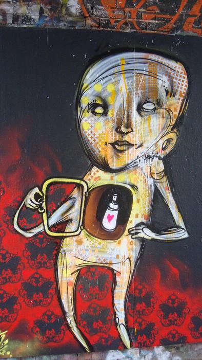 streetartwalk streetart checkback david meade