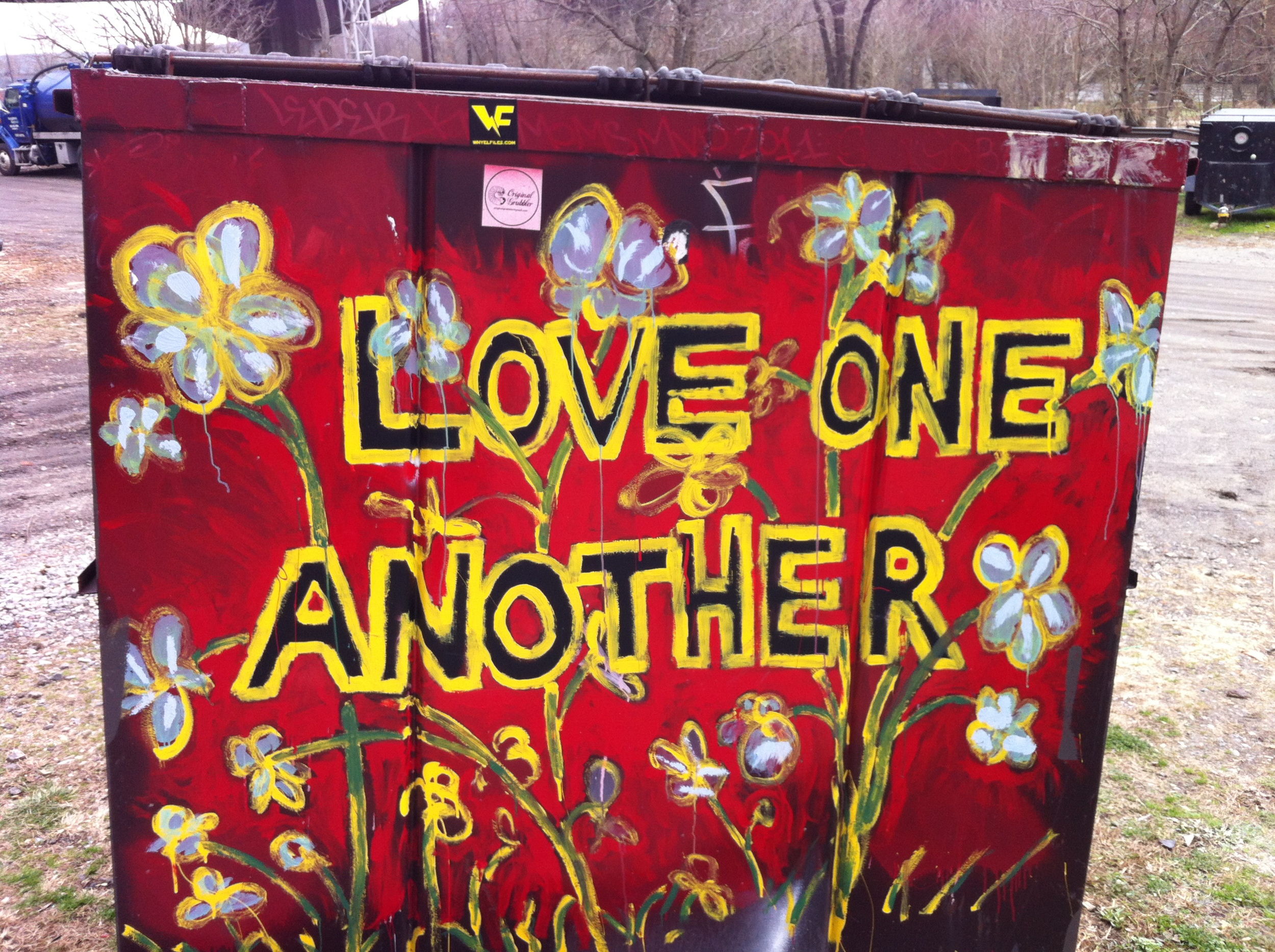 artist unknown asheville avl street art walk david meade love one another