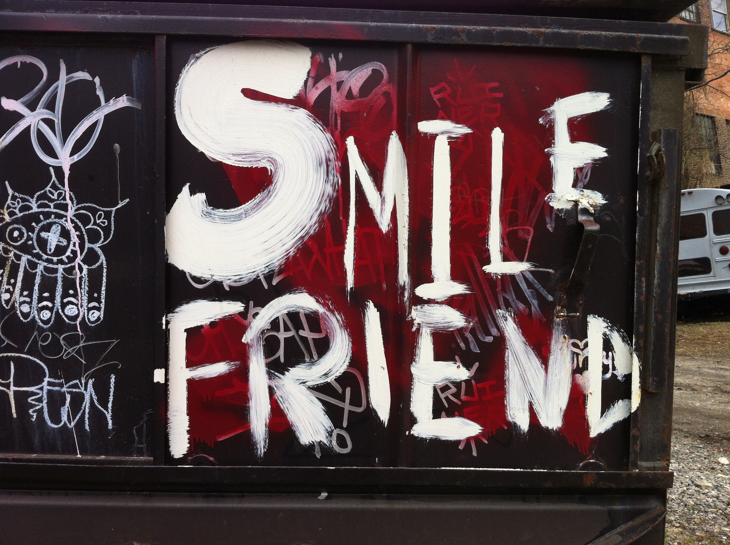 artist unknown asheville avl street art walk david meade smile friend