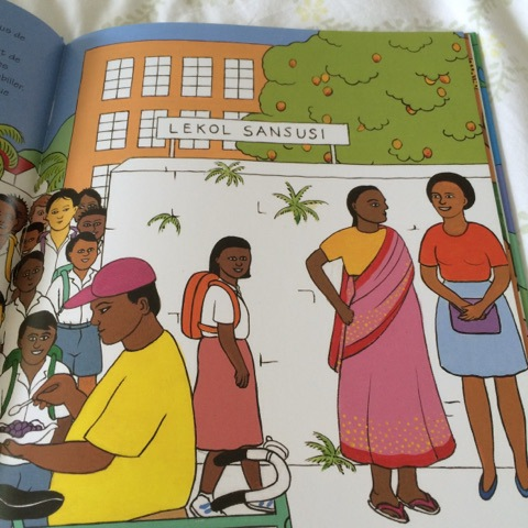 A wonderful book from Mauritius to look for links with the French we are learning to speak and write in our lessons.