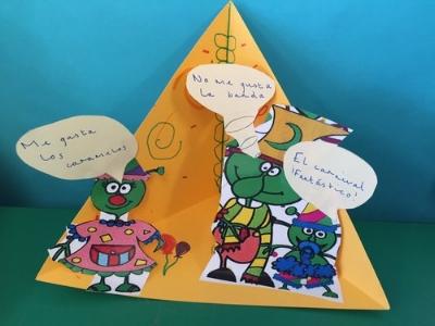 Speaking and writing triaramas