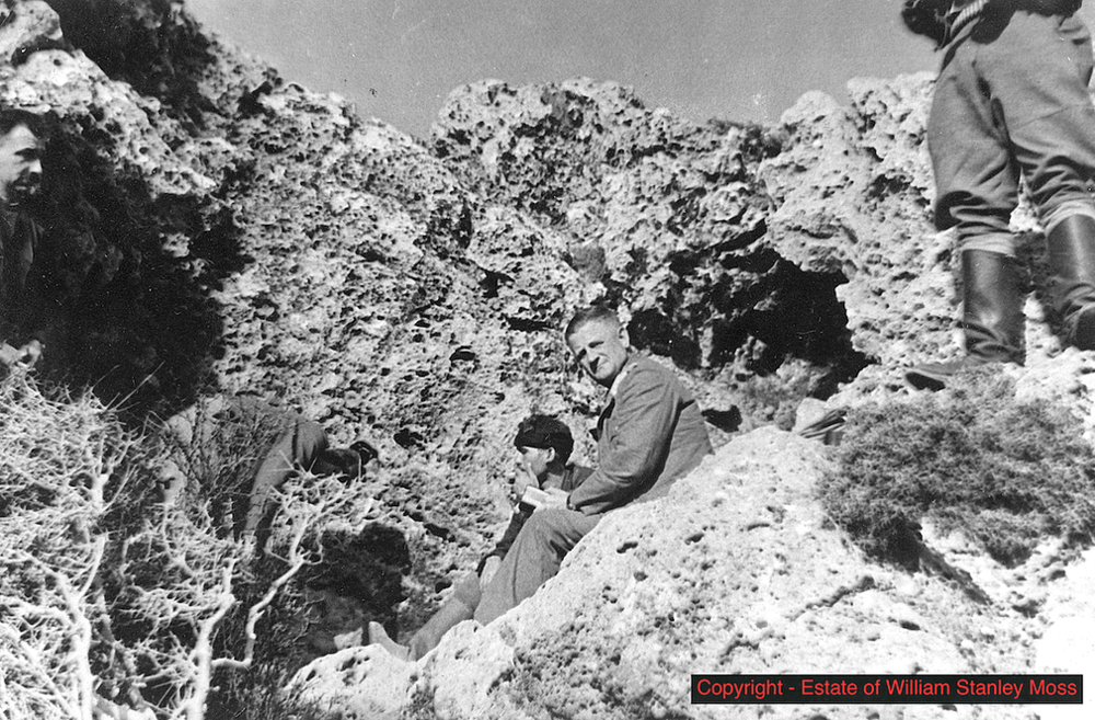 The Cave in the Nida - The man looking at the camera is German General Kriepe. He was captured by the Cretans with British help.