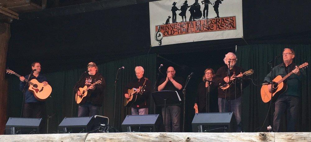 Gloryland at the june bluegrass festival 2018.