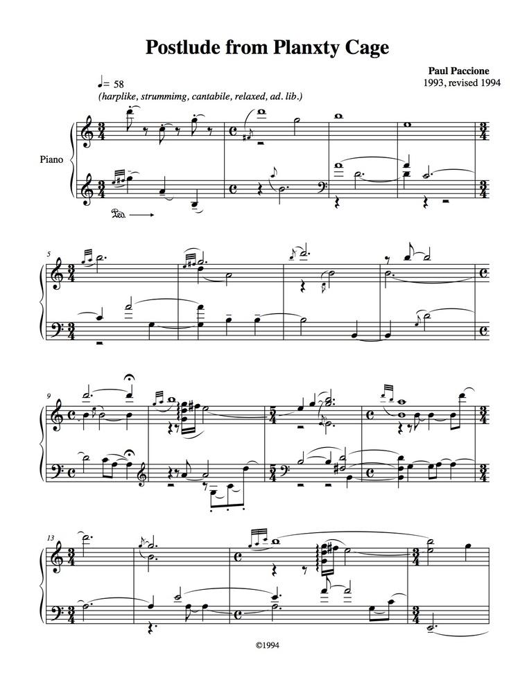 Piano mission impossible piano sheet music : Scores — Paul Paccione - Composer