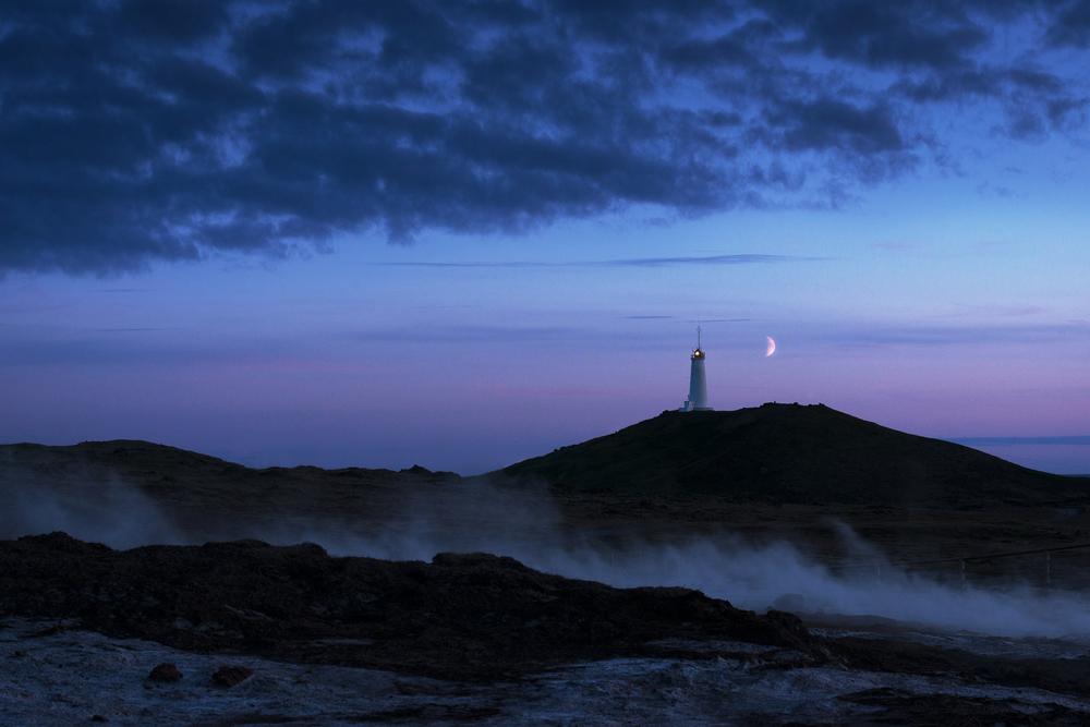 Reykjanes lighthouse, Gunnuhver