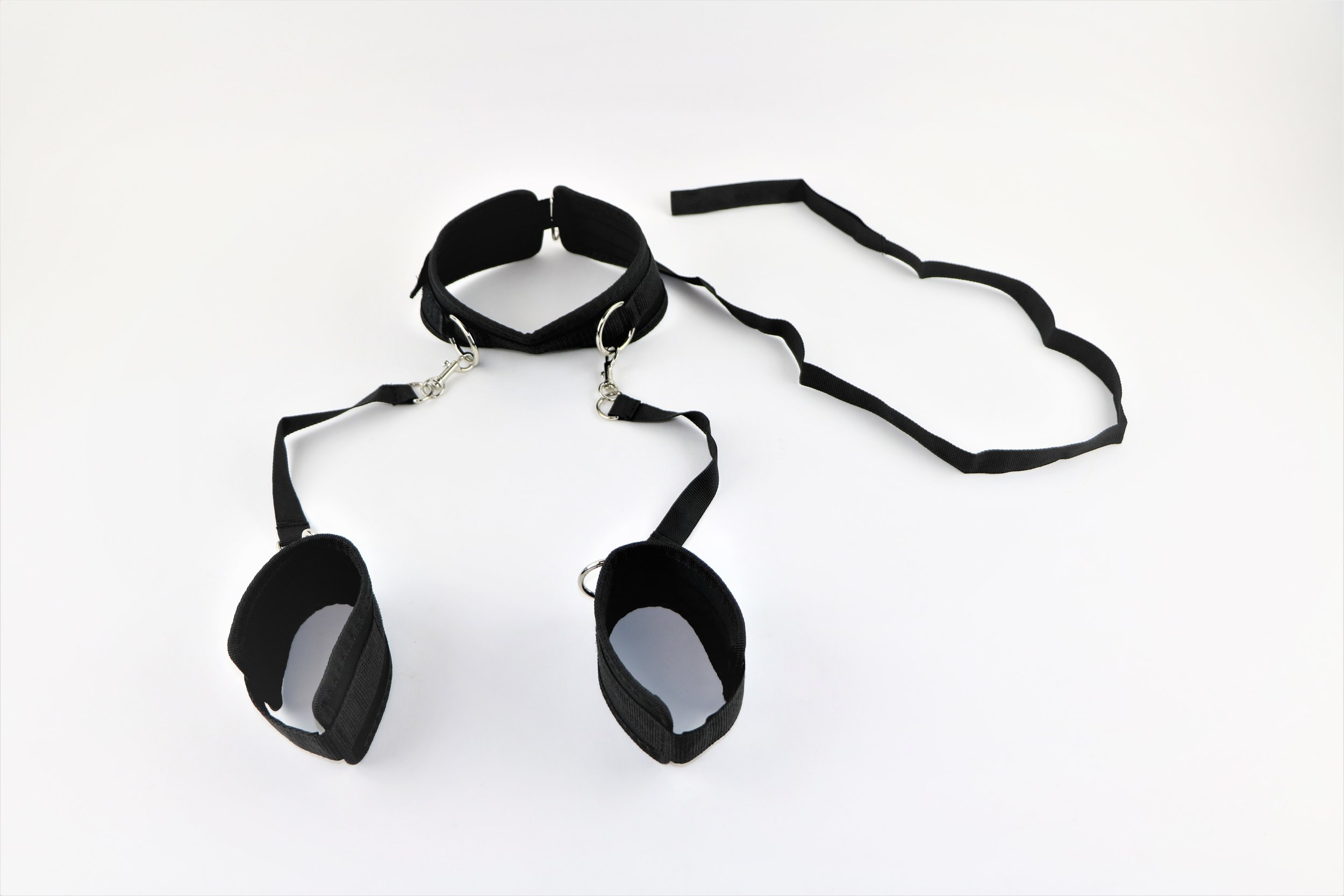 Nylon Collar W/ Arm Restraints and Leash! - Submissive, Domination, Mature  BDSM, Roleplay, Bitch