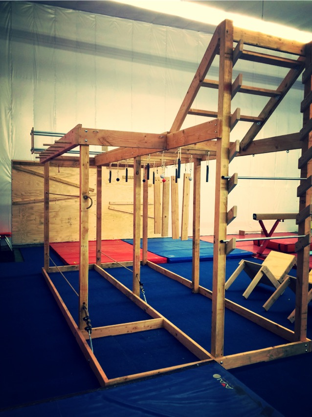 Indoor Ninja Warrior Gym Homeade Obstacle