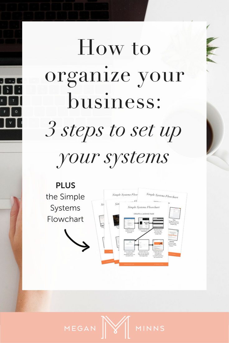 How To Organize Your Business: The 3 Must-Have Tools You Need To Set Up Your Business Up The Right Way. Today I'm going to share with you the 3 steps to set up and organize your business. By following these simple steps, you'll have a business that is organized and running smoothly! http://meganminns.com/blog/organize-your-business
