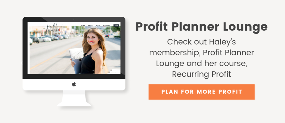 Profit Planner Lounge with Haley Burkhead - The Productive Life Podcast with Megan Minns