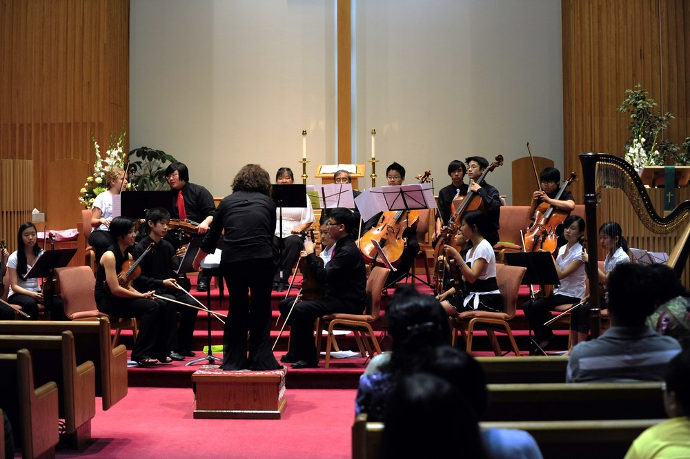 Dr. Mira Kang conducts Danse Macabre by Saint-Saens
