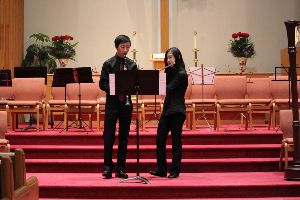 Flute and clarinet duet