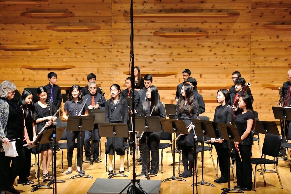The Wind Ensemble takes their final bow