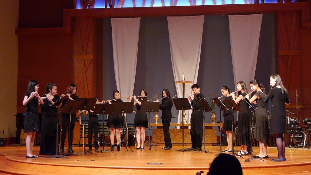 A lovely flute choir