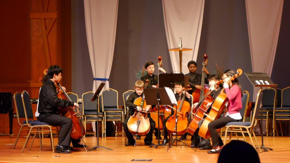 Cello and bass ensemble