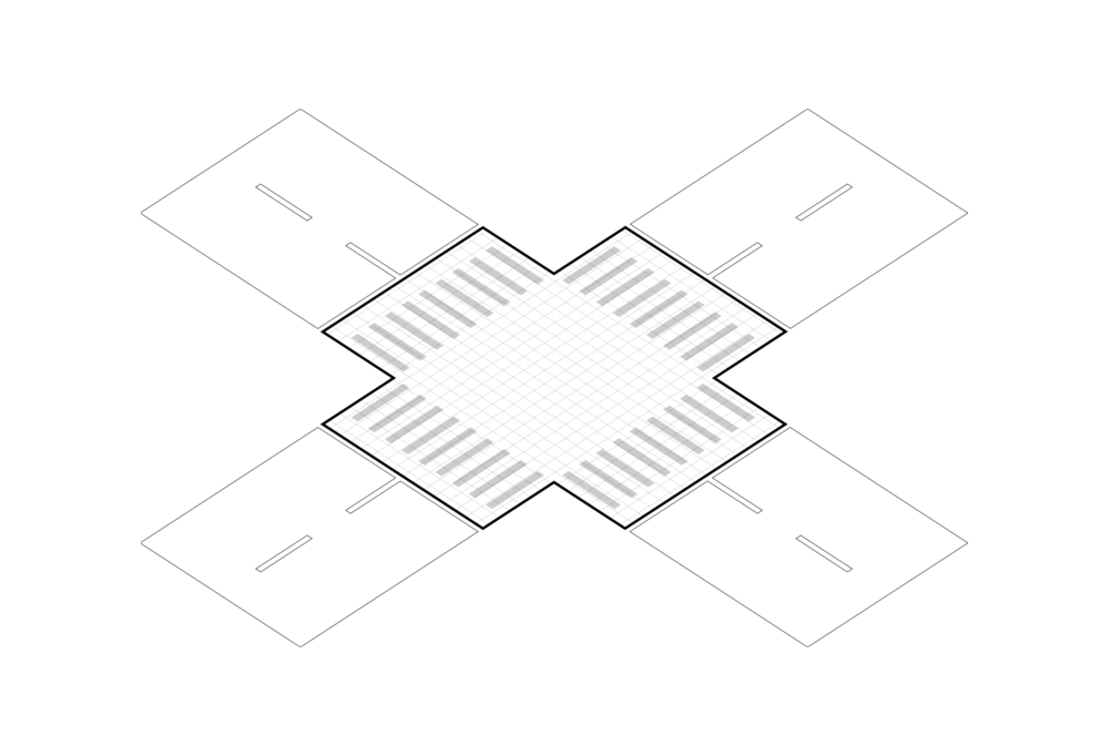Grid - Consists of grid system in which units of rubber tiles connect with each other.