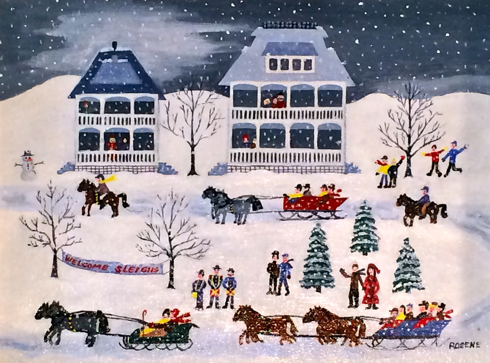 The Great Sleigh Ride of 1856, Richfield, Ohio