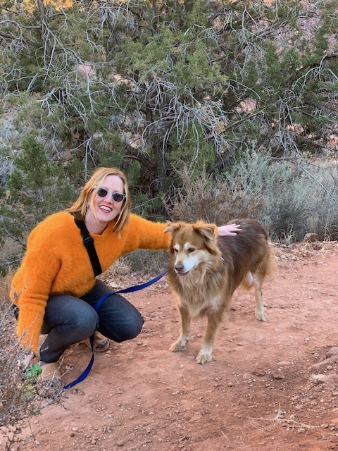 Nancy and Poncho in Zion National Park, Utah