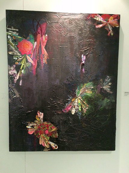 "Mixed media artist Adrienne Shisko's remarkable ""Eye Candy"" piece on display in Watertown"