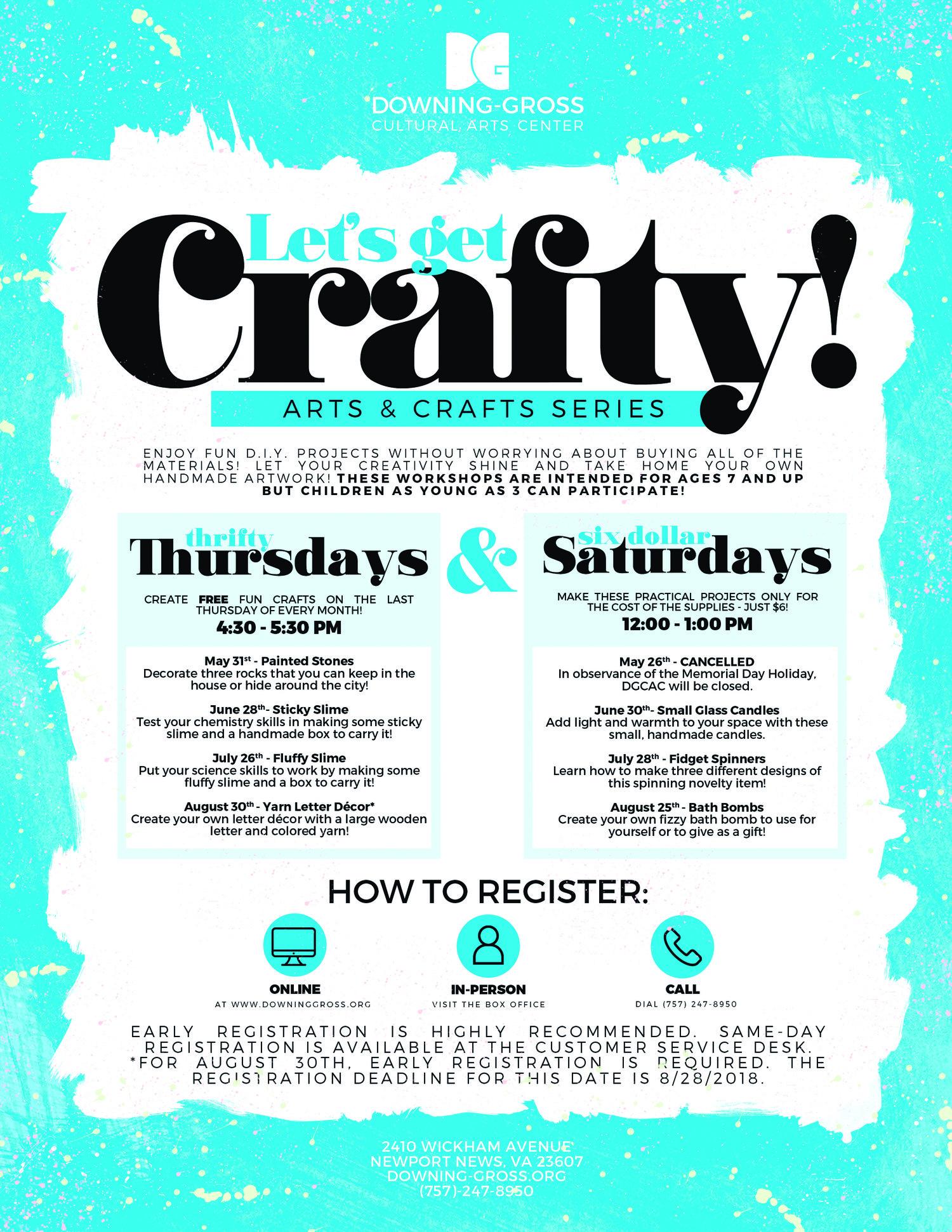 Six Dollar Saturday Let S Get Crafty Arts N Craft Workshop