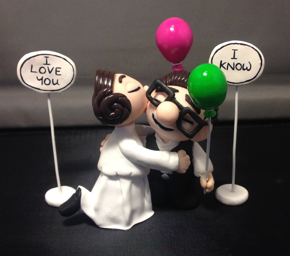 Up cake topper