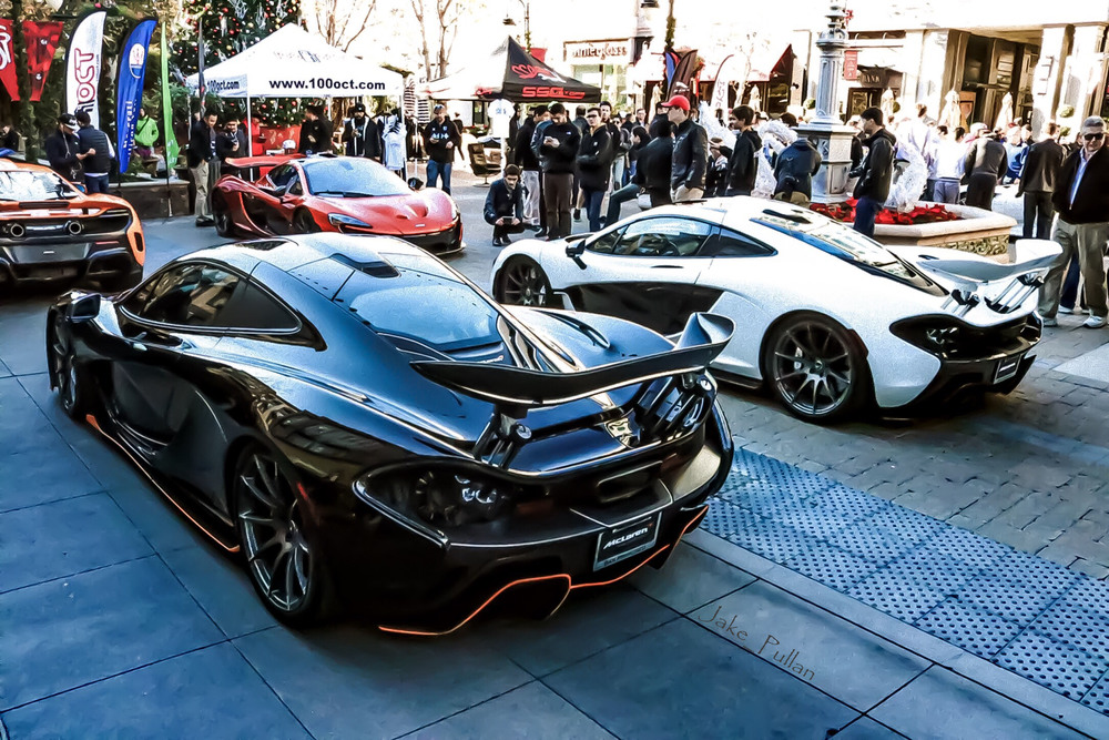Credits: Jake Pullan - Three McLaren P1s and a McLaren 675LT