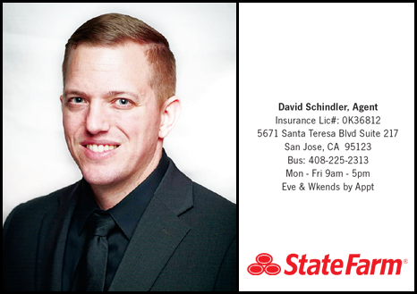 Your car matters. It's why  David Schindler - State Farm  is here. Talk to him today and tell him 100|OCT sent you!