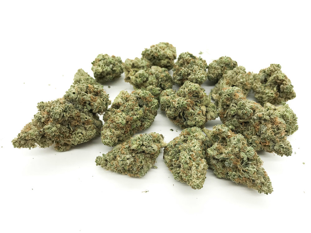 Caliva Collection Alien OG hovers around 26% THC.